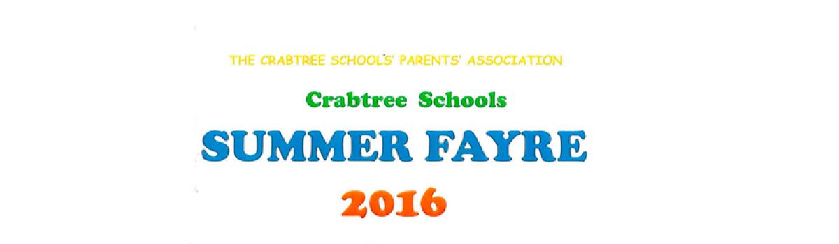 Crabtree Primary School Fayre